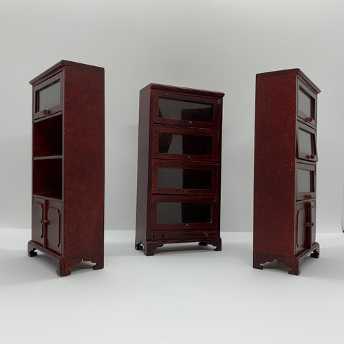 Dollhouse Miniature Lawyer's Bookcase Set (AZT3869); angled out