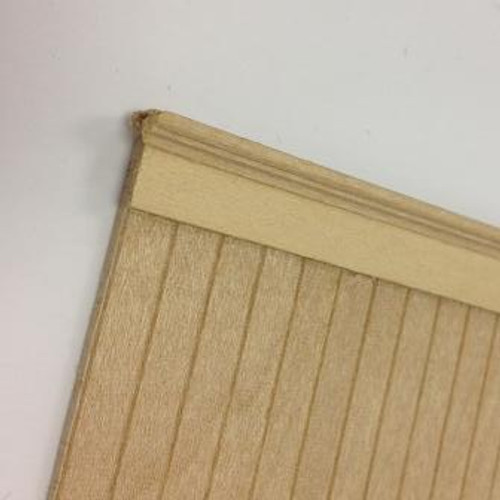 Image showing wainscot panel topped with wainscot trim and simple piece of stripwood to add detail; trim and stripwood sold separately.