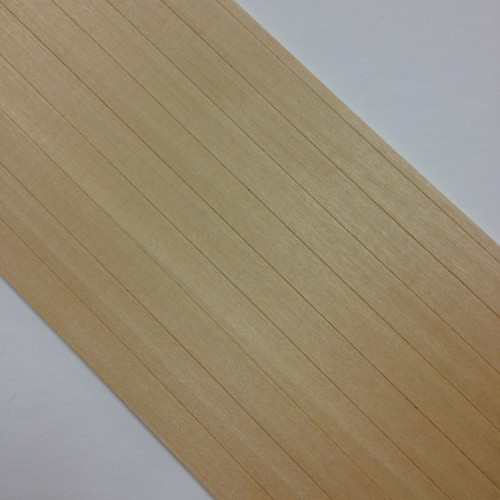 """Close up of 3/8"""" scribed siding"""