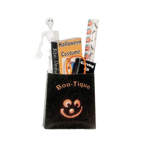 Dollhouse Miniature Filled Halloween Shopping Bag (AZSH0039)