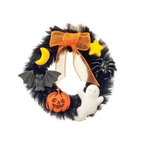 Dollhouse Miniature Halloween Wreath (AZSH0036)