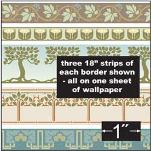 1AC100 - Arts & Crafts Borders