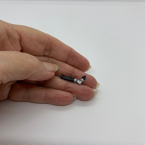 Dollhouse Miniature Medical Otoscope (IC2645) shown in hand