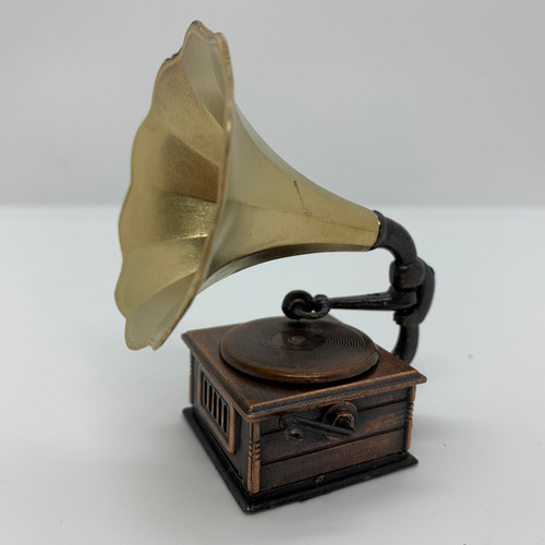 Dollhouse Miniature Victrola Phonograph (MUL4805) side view