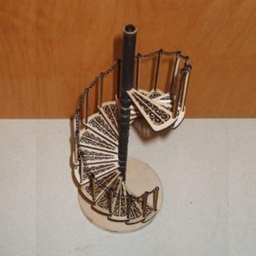 Dollhouse Miniature Spiral Staircase Kit (AL084)