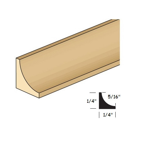 """1/4"""" Cove Molding (NE98); illustrated with dimensions"""