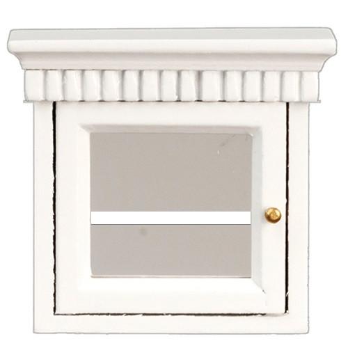 Dollhouse Miniature Medicine Cabinet glass door, White (AZT5031)