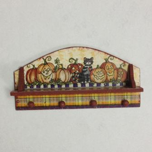 Halloween Peg Hook Shelf (DFI207A); shown assembled with one of the several decorative options