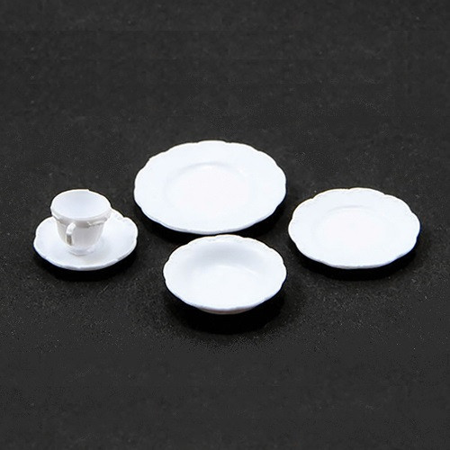 One Place Setting, 5 Piece, White (CB2722)