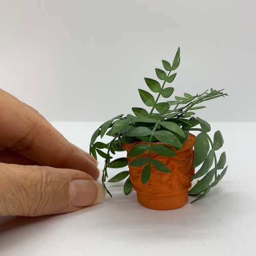Potted Assorted Plants (UFN3012) with hand for scale
