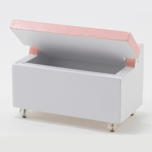 Toy Chest, White/Pink (CLA10370); shown open