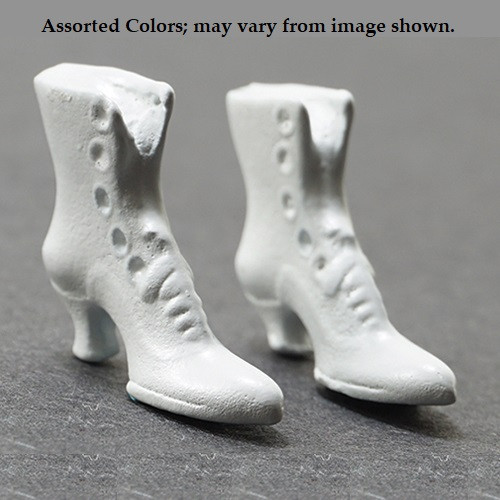 High Button Shoes, No Choice From Assorted Colors (MUL3933A); shown in white