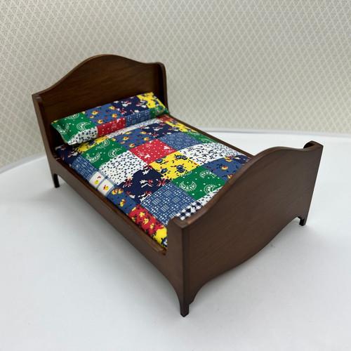 Double Bed, Walnut (CLA10297) alternative angle