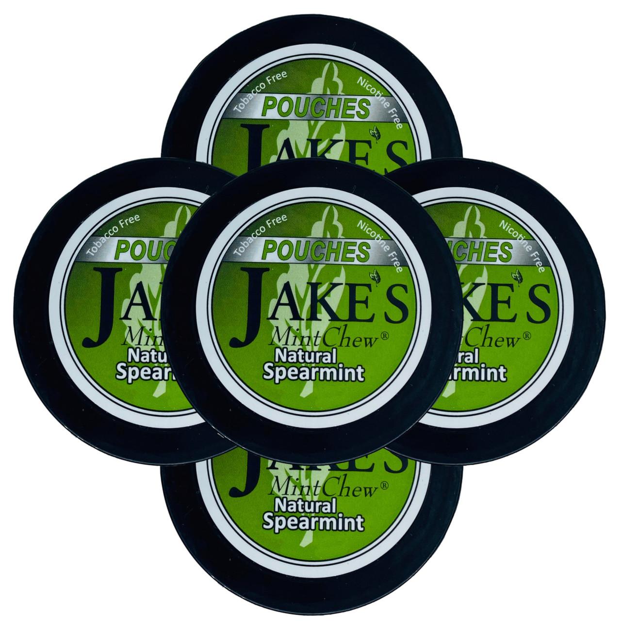 Jake's Mint Chew Pouches Spearmint 5 Cans
