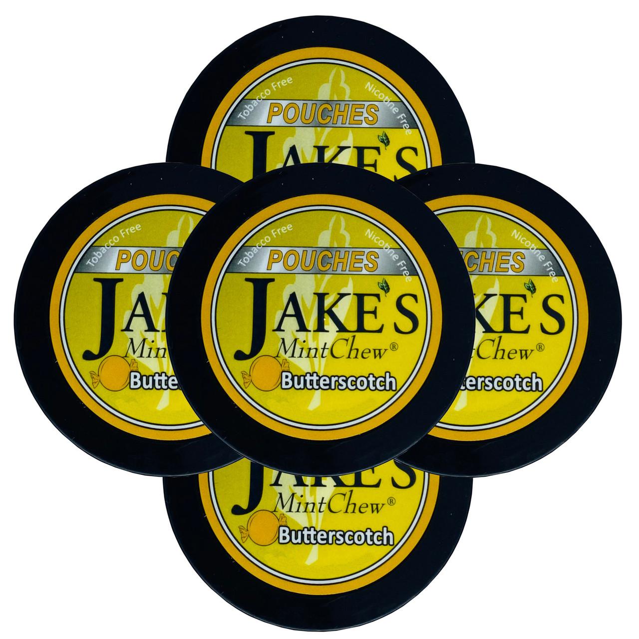 Jake's Mint Chew Pouches Butterscotch 5 Cans