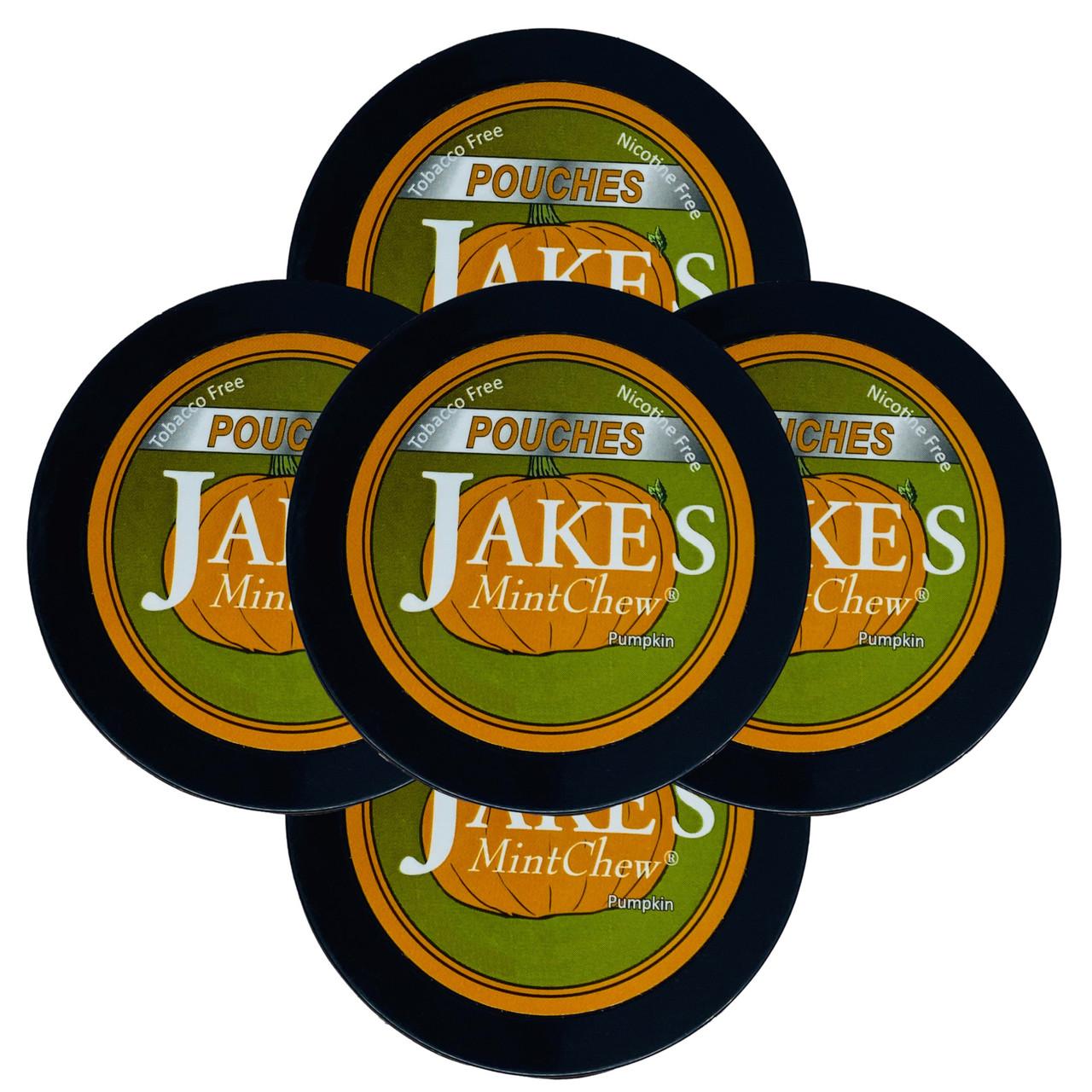 Jake's Mint Chew Pouches Pumpkin 5 Cans