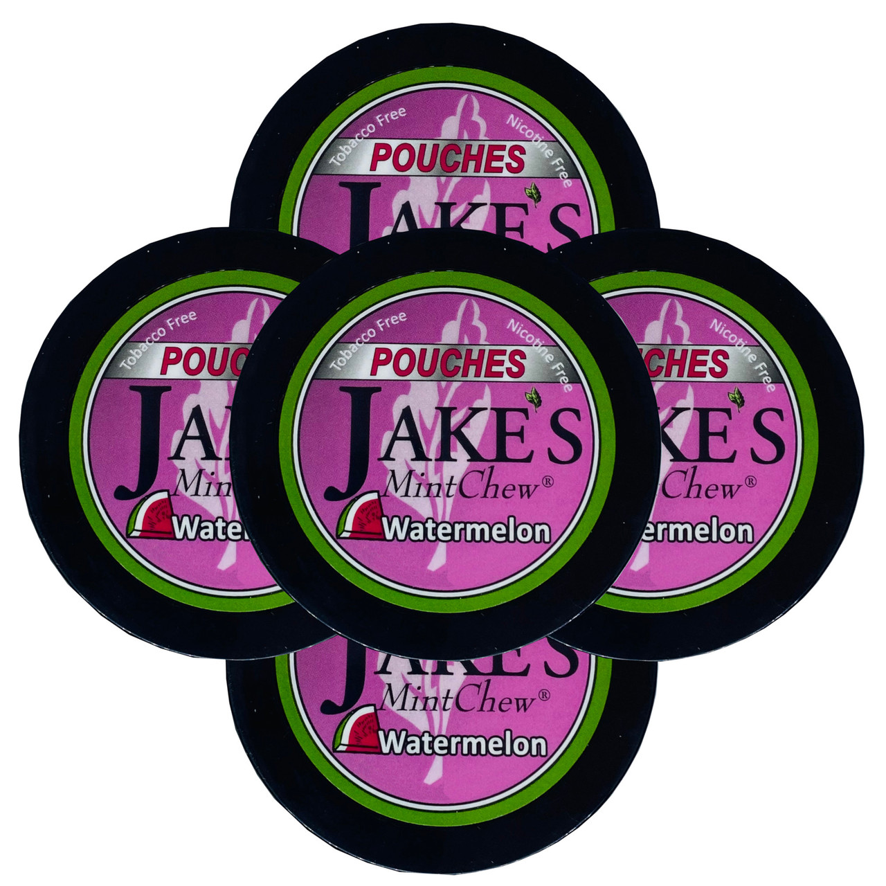 Jake's Mint Chew Pouches Watermelon 5 Cans