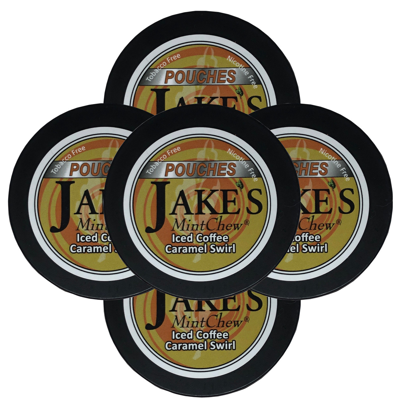 Jake's Mint Chew Pouches Iced Coffee Caramel Swirl 5 Cans