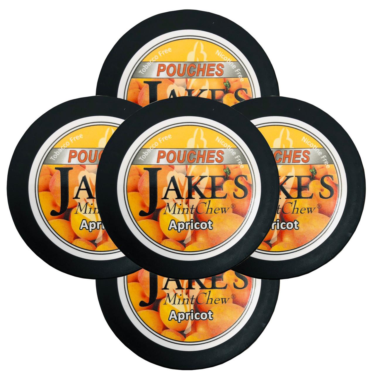 Jake's Mint Chew Pouches Apricot 5 Cans
