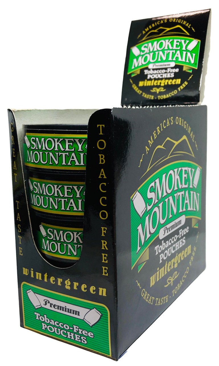 Smokey Mountain Wintergreen Pouch Snuff 10 Cans