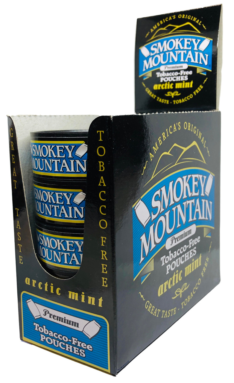 Smokey Mountain Arctic Mint Pouch Snuff 10 Cans