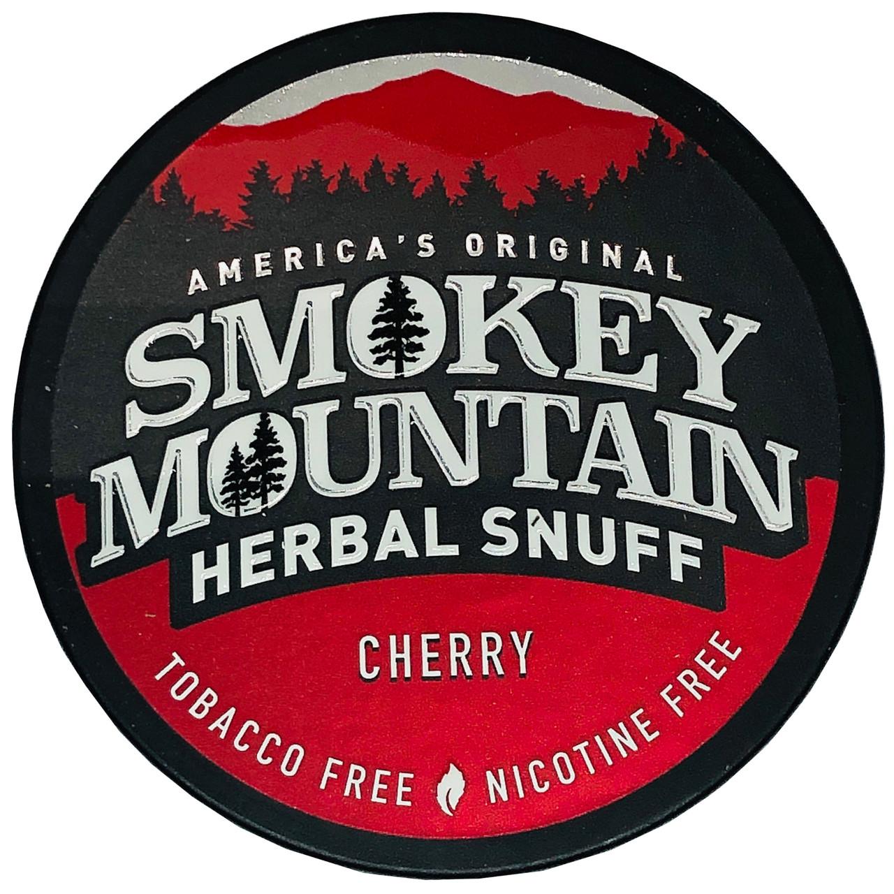 Smokey Mountain Herbal Snuff Cherry 1 Can