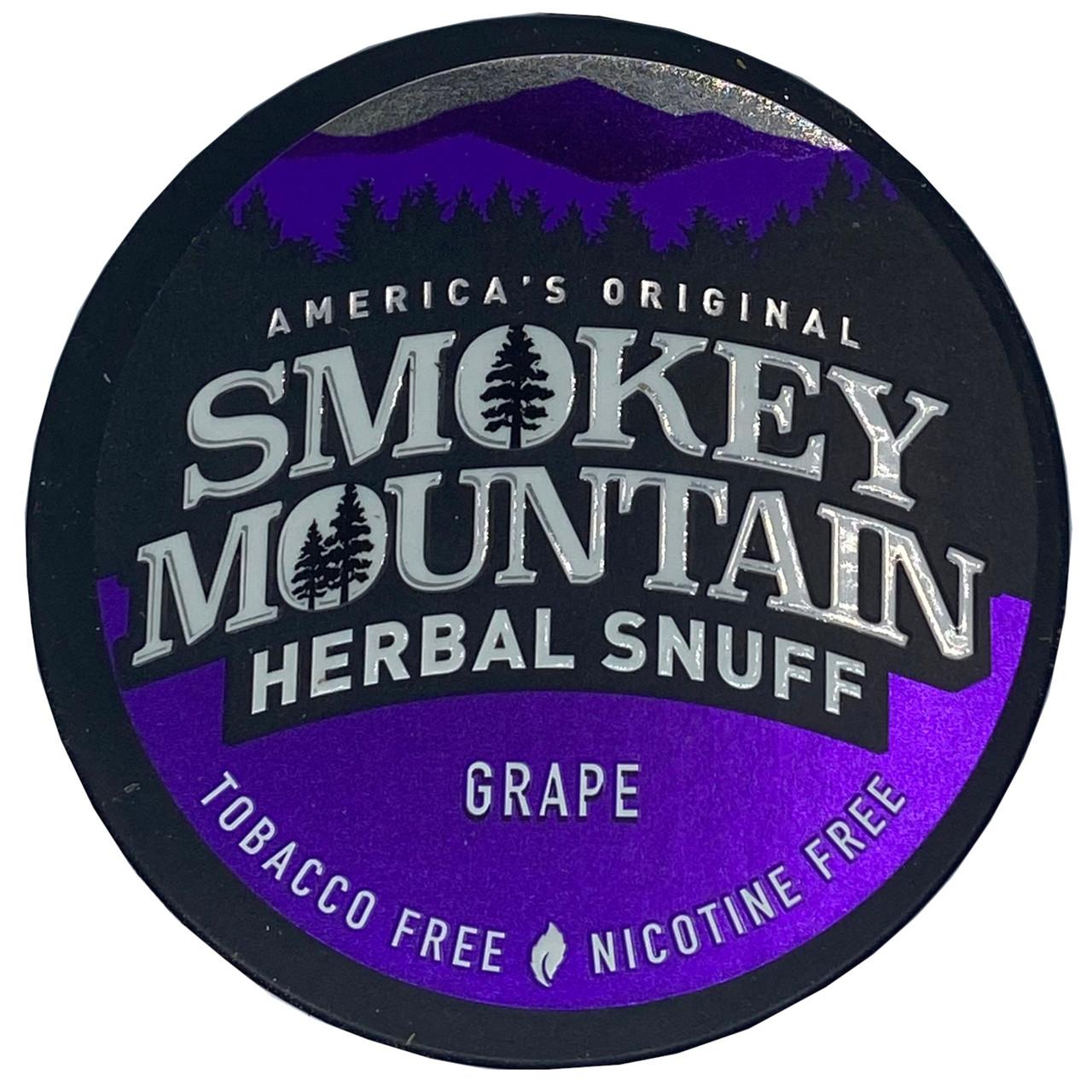 Smokey Mountain Herbal Snuff Grape 1 Can