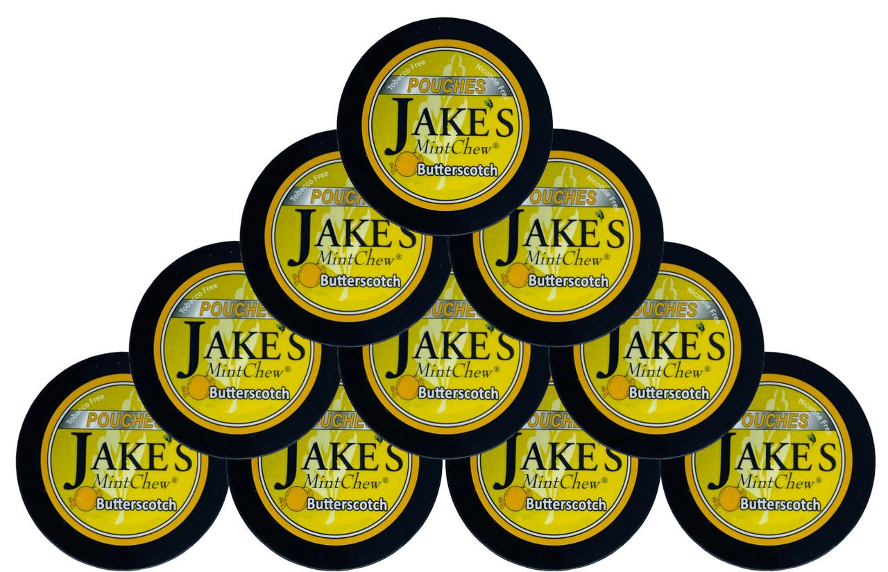 Jake's Mint Chew Pouches Butterscotch 10 Cans