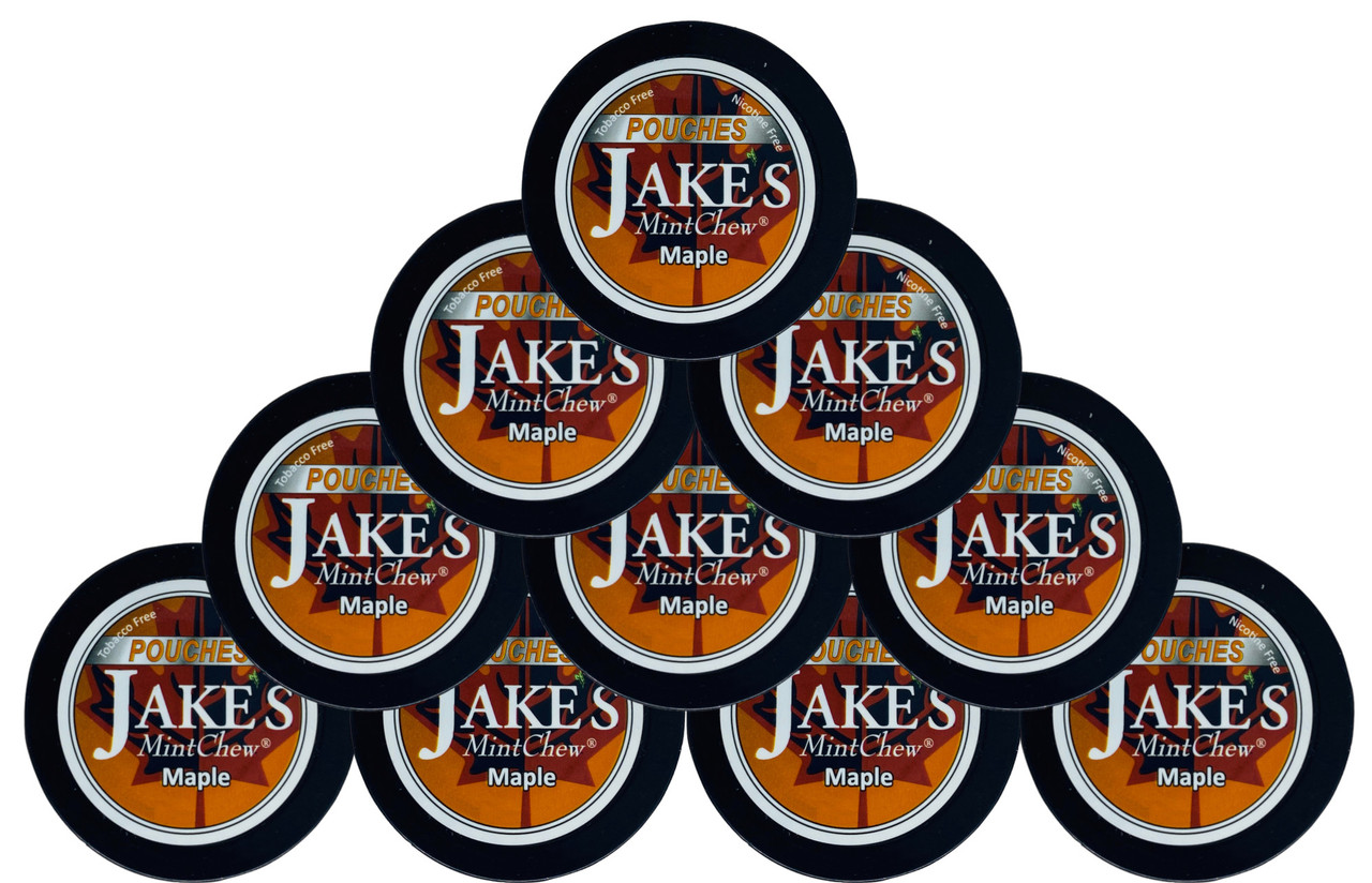 Jake's Mint Chew Pouches Maple 10 Cans