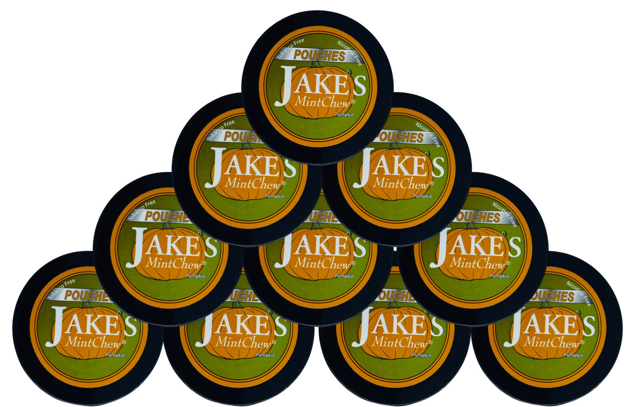 Jake's Mint Chew Pouches Pumpkin 10 Cans