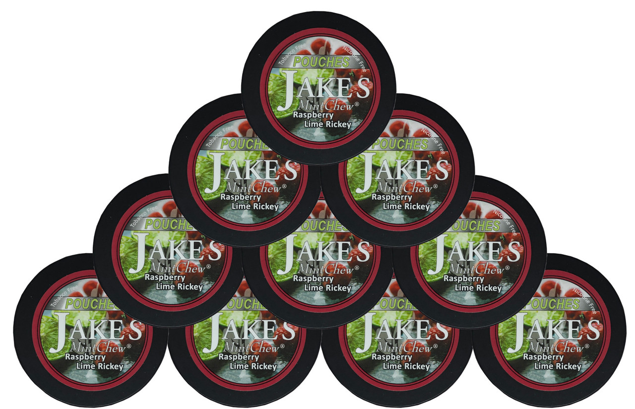 Jake's Mint Chew Pouches Raspberry Lime 10 Cans