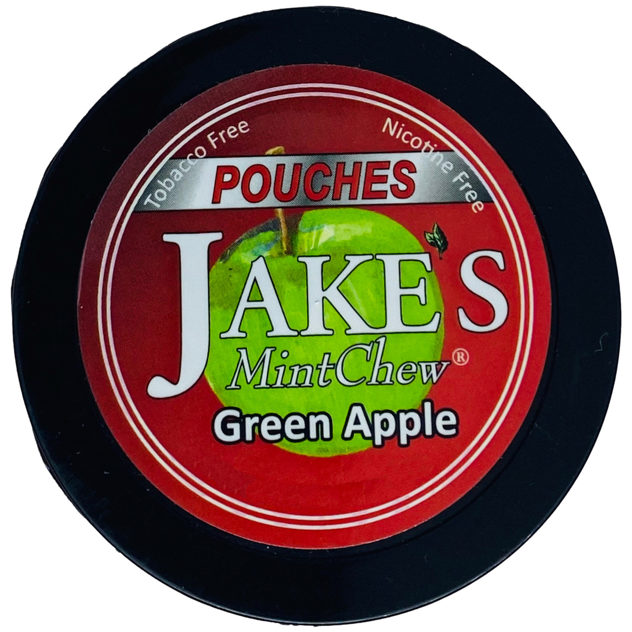 Jake's Mint Chew Pouches Green Apple 1 Can