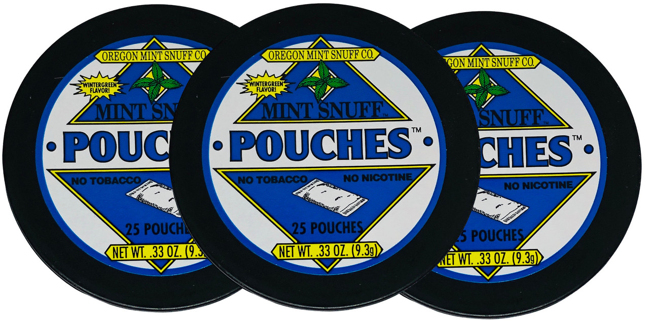 Oregon Mint Snuff Wintergreen Pouches 3 Cans