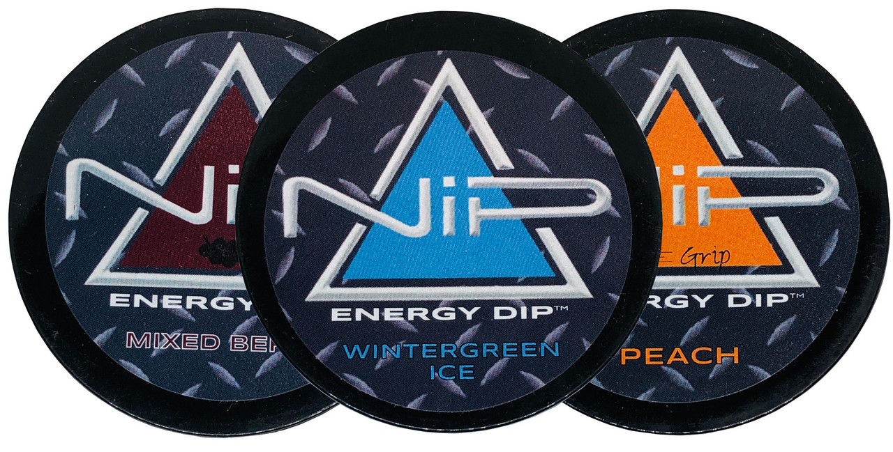 Nip Energy Dip 3 Count Variety Pack Wintergreen, Peach and Mixed Berry