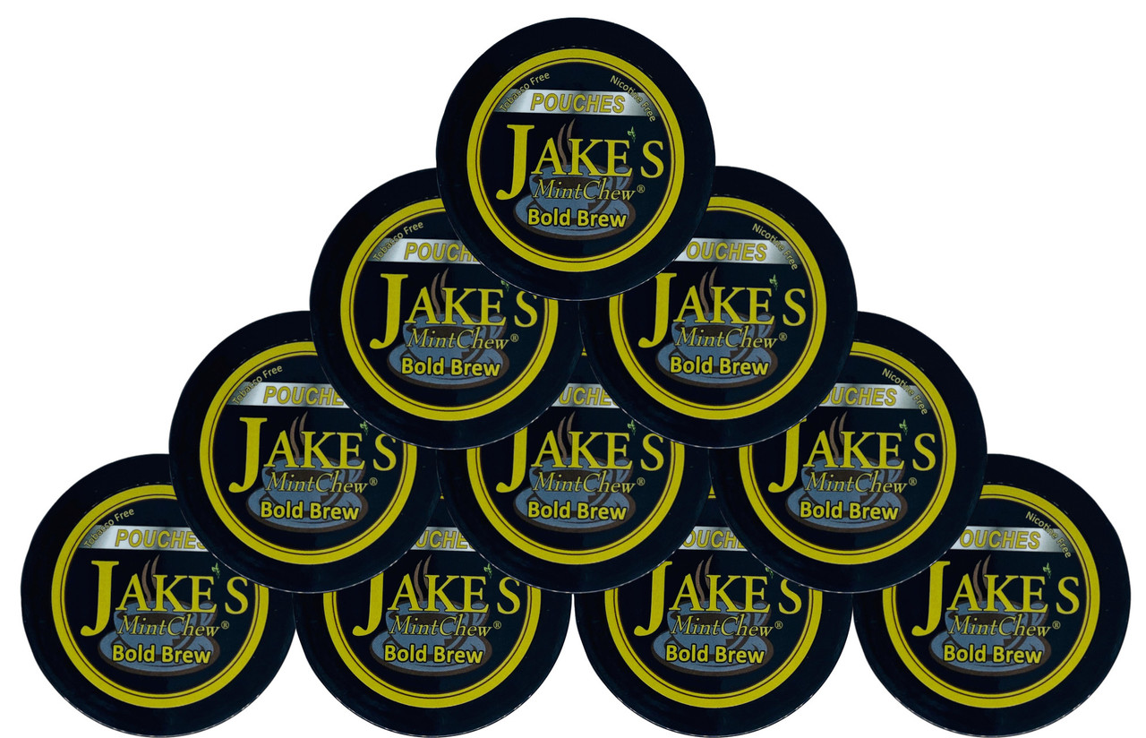 Jake's Mint Chew Pouches Bold Brew 10 Cans