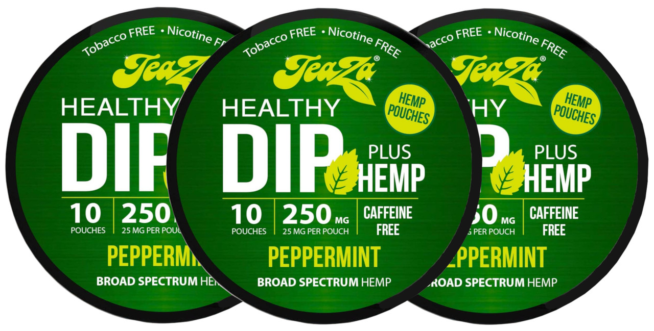 Teaza Herbal CBD Hemp Peppermint Pouches Single 3 Cans