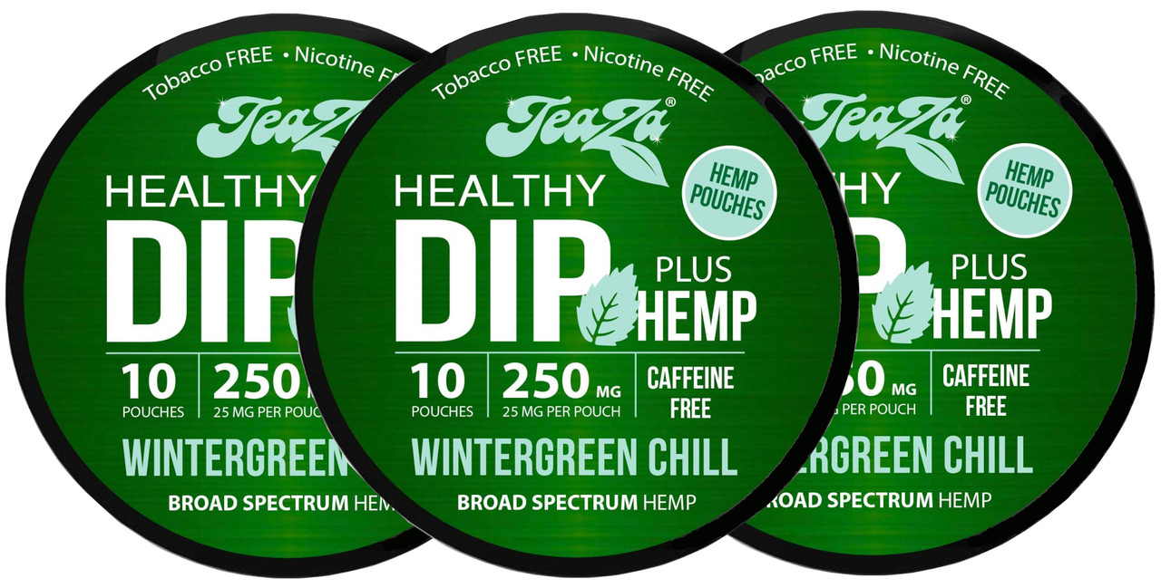 Teaza Herbal Hemp Wintergreen Chill Pouches Single 3 Cans