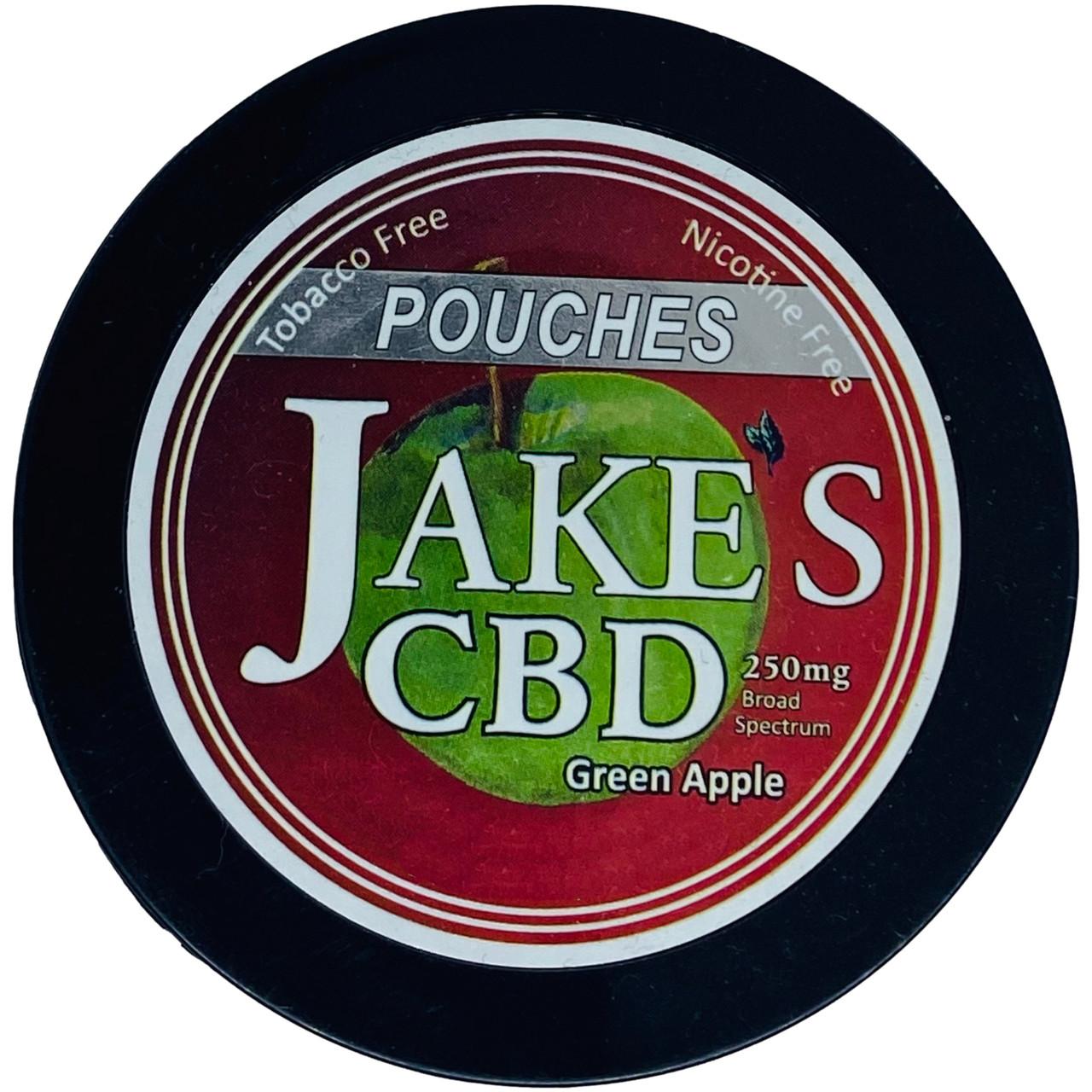 Jake's Mint Chew CBD Pouches Green Apple 1 Can