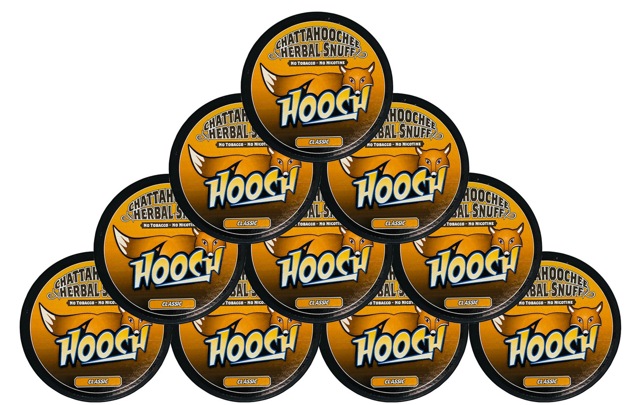 Hooch Snuff Pouch Packs 10 Cans Classic