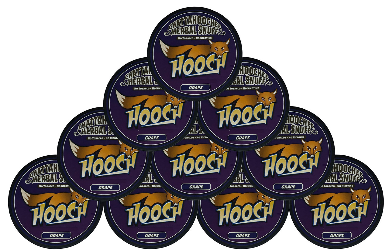 Hooch Snuff Pouch Packs 10 Cans Grape