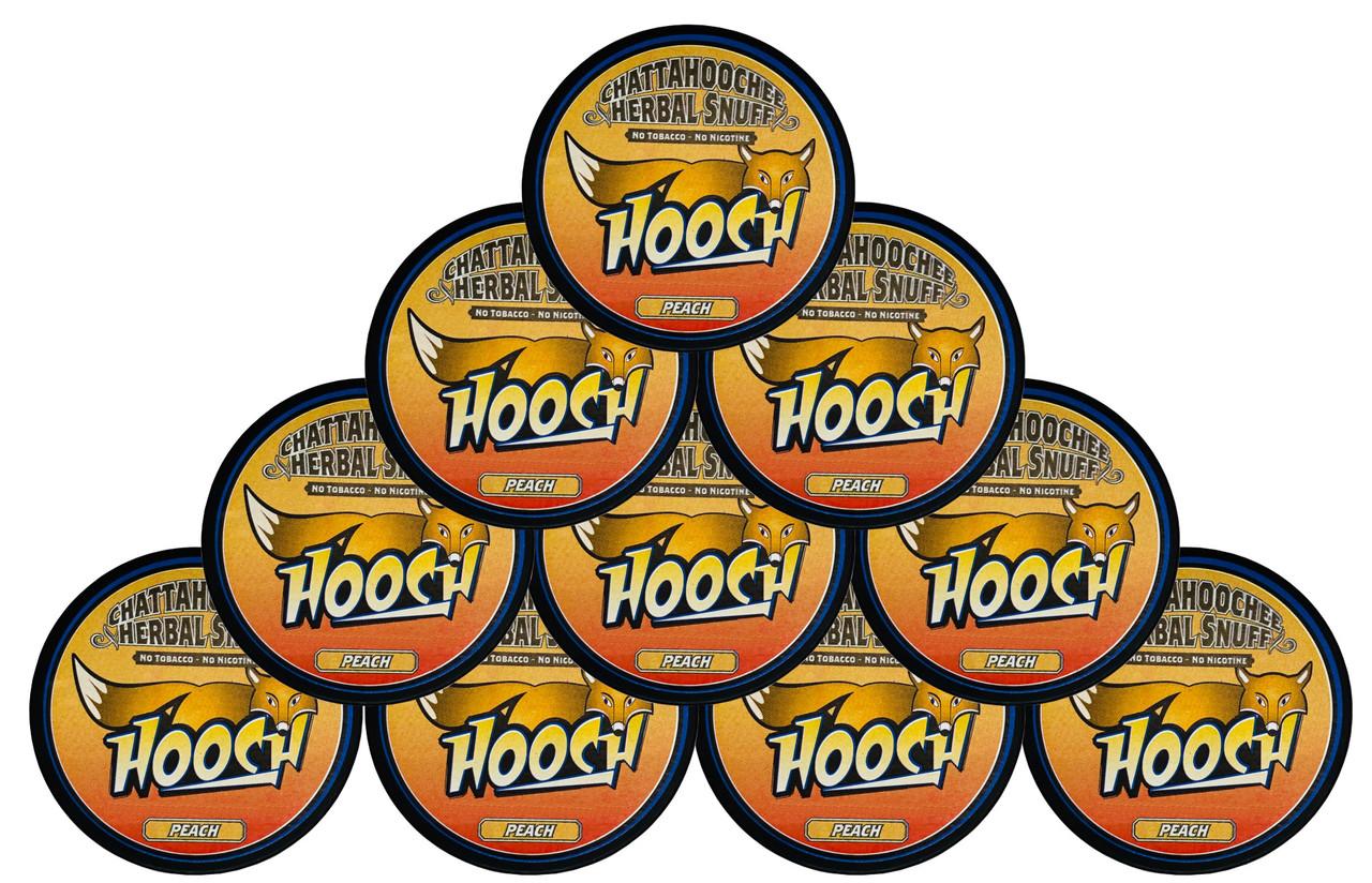 Hooch Snuff Pouch Packs 10 Cans Peach
