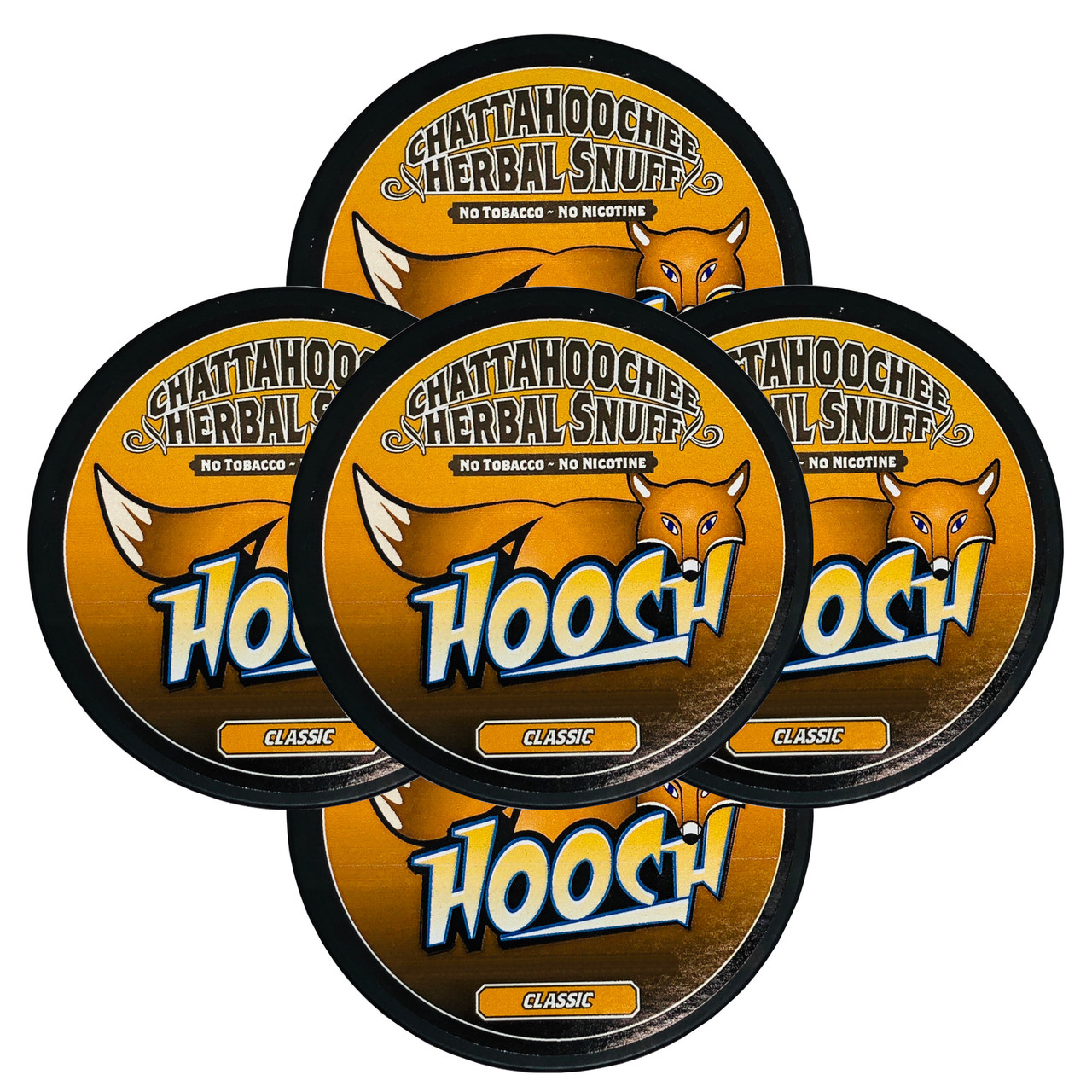 Hooch Snuff Pouch Packs 5 Cans Classic
