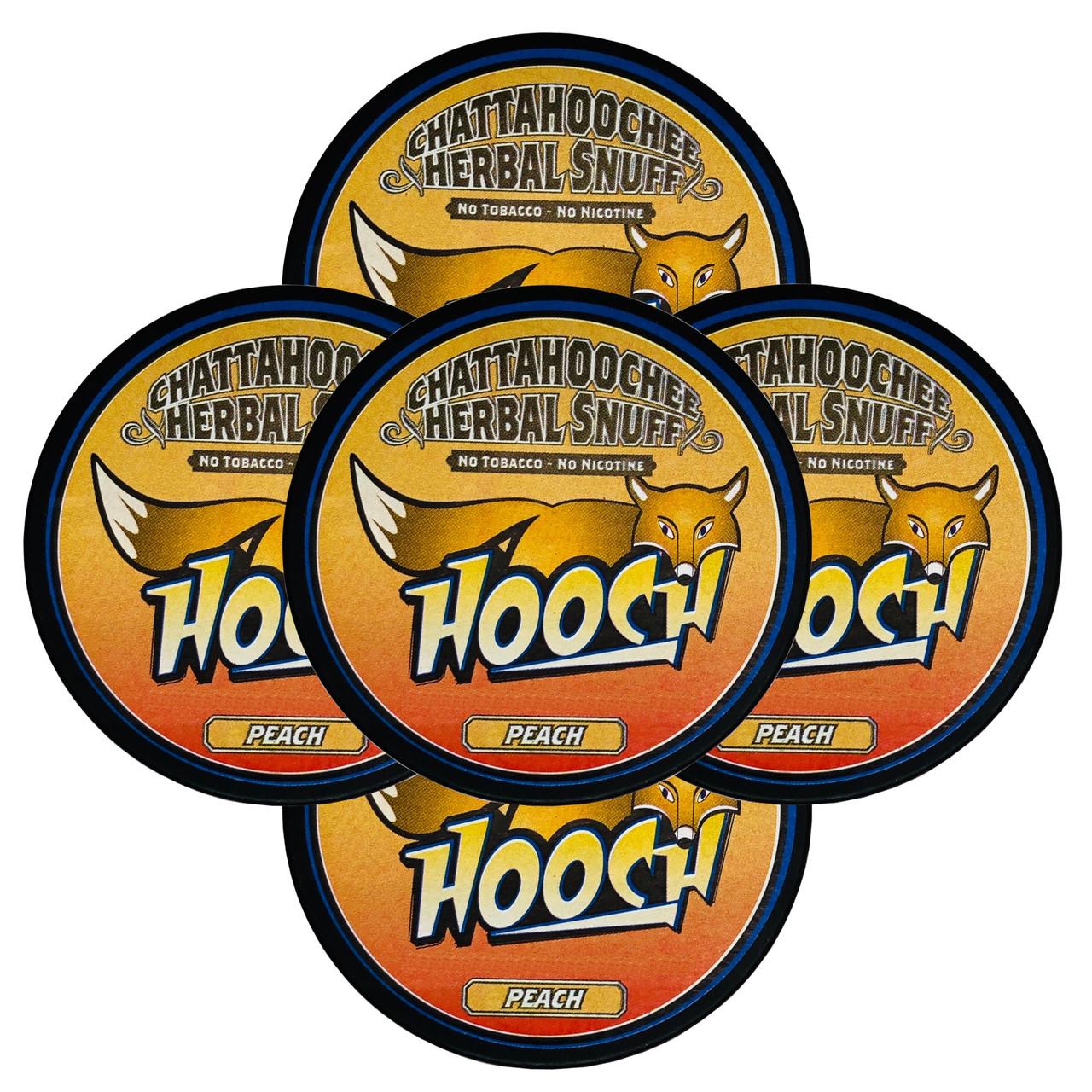 Hooch Snuff Pouch Packs 5 Cans Peach