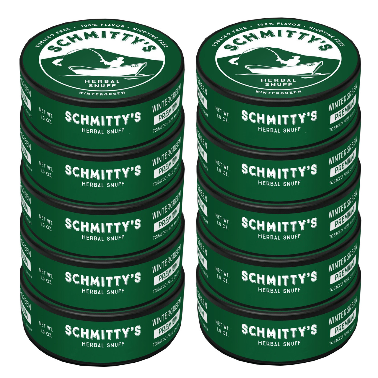 Schmitty's Herbal Snuff Wintergreen 10 Cans