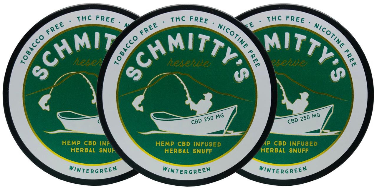 Schmitty's Reserve CBD Snuff Wintergreen 3 Cans