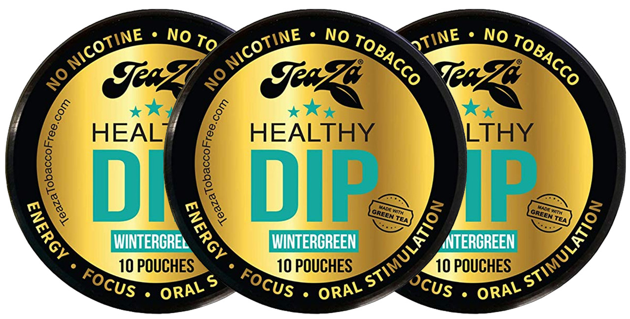 TeaZa Energy Pouches Wintergreen 3 Cans