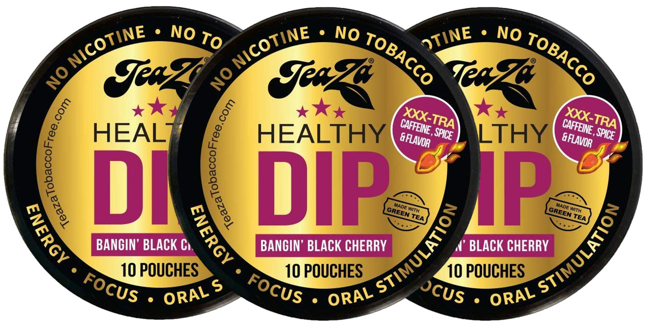 TeaZa Energy Pouches Bangin Black Cherry 3 Cans