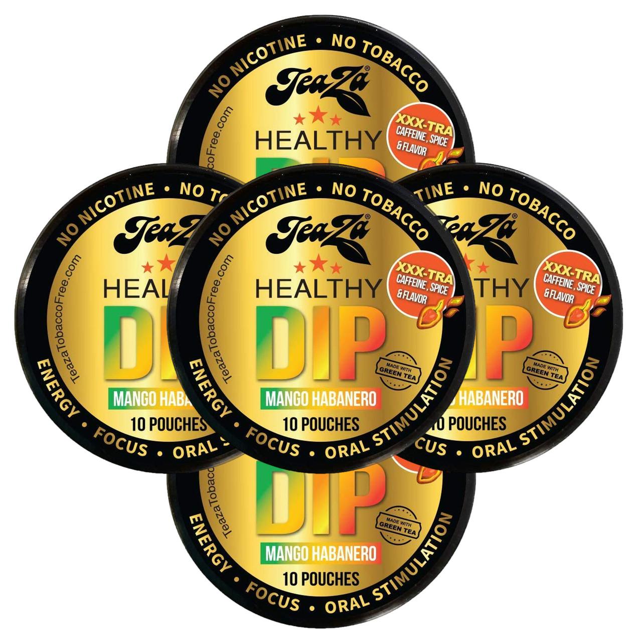 TeaZa Energy Pouches Mango Habanero 5 Cans