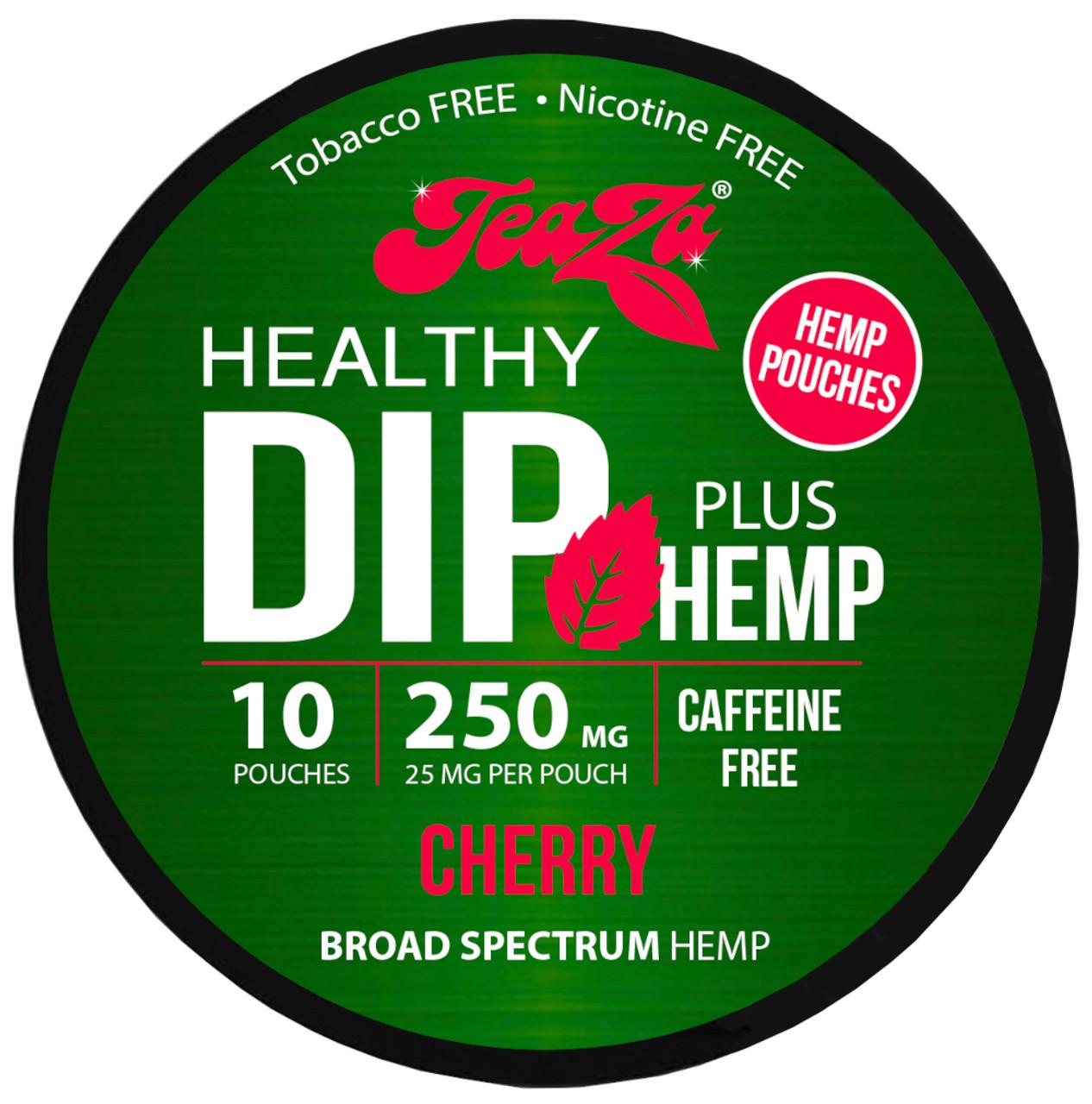 Teaza Herbal CBD Hemp Cherry Pouches Single