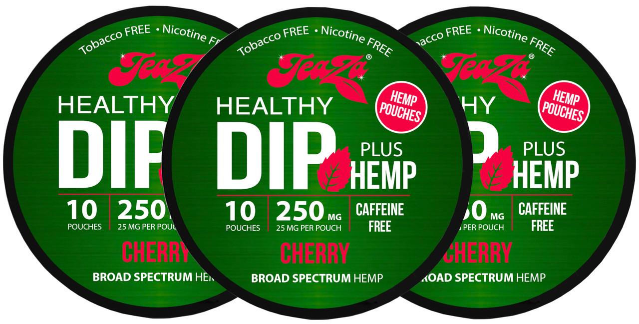 Teaza Herbal CBD Hemp Cherry Pouches Single 3 Cans